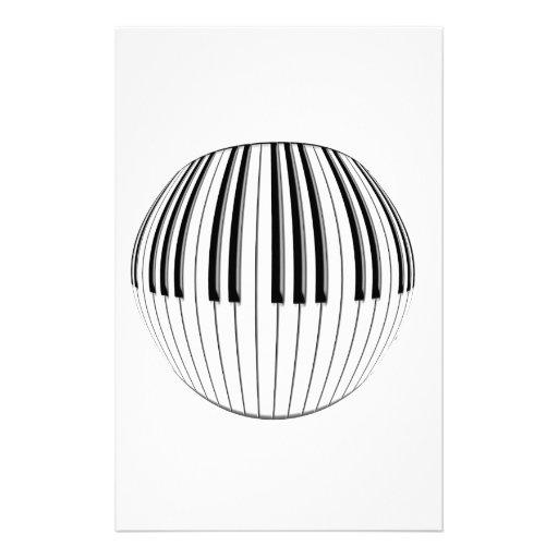 Piano Ball Customized Stationery
