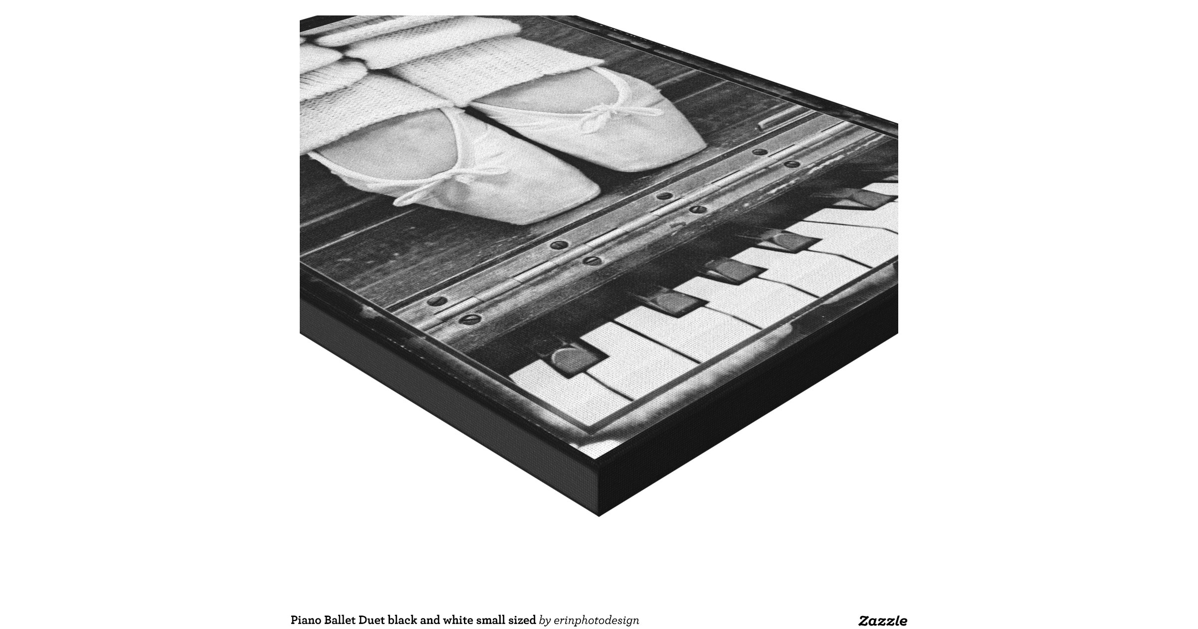 Piano ballet duet black and white small sized stretched for Small size piano