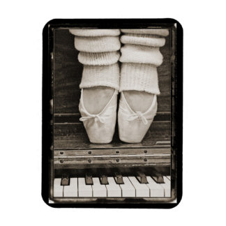 Piano Ballet Duet Rectangular Photo Magnet