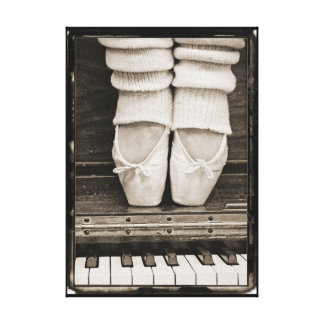 Piano Ballet Duet small sized Canvas Prints