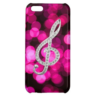 Piano bar with g-clef iPhone 5C cover