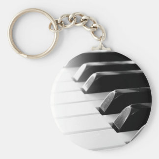 Piano Basic Round Button Key Ring