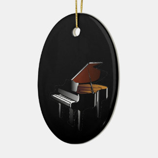 Piano Be an Organ Donor Double-Sided Oval Ceramic Christmas Ornament