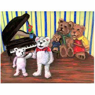 Piano Bears Sculpture Photo Sculpture Decoration