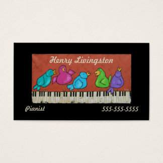 piano birds pianist business card