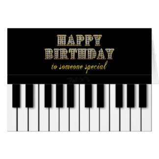 PIANO BIRTHDAY - SOMEONE SPECIAL GREETING CARD