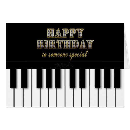 PIANO BIRTHDAY - SOMEONE SPECIAL CARD