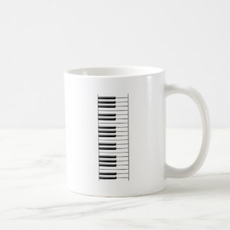Piano Black and White Basic White Mug