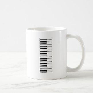 Piano Black and White Coffee Mug