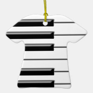 Piano Black and White Christmas Tree Ornaments