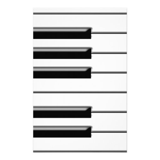 Piano Black and White Stationery