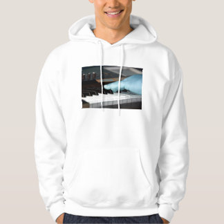 piano blue electric left hand playing keys music d hoodie