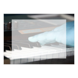 piano blue electric left hand playing keys music d personalized invites