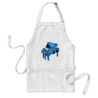 Piano Blue With Face Piano Graphic Design Standard Apron