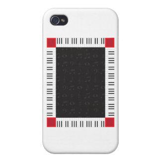 Piano Border iPhone 4/4S Cover
