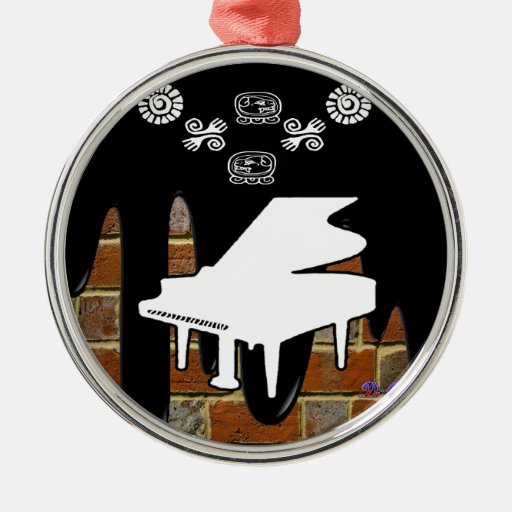 PIANO BRICK BACKGROUND PRODUCTS CHRISTMAS TREE ORNAMENTS
