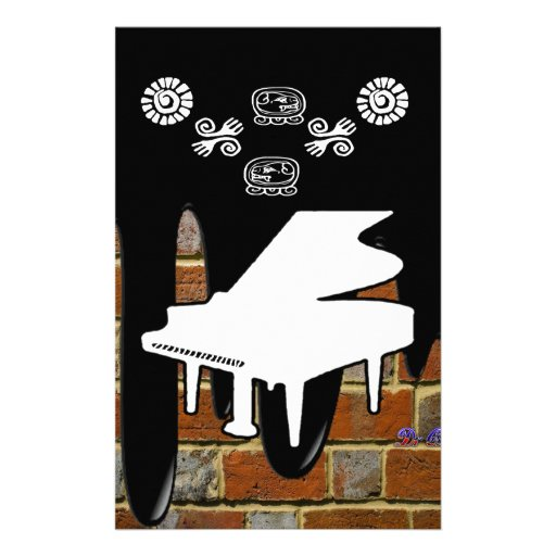 PIANO BRICK BACKGROUND PRODUCTS STATIONERY PAPER