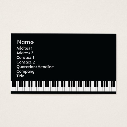 Piano - Business Business Card