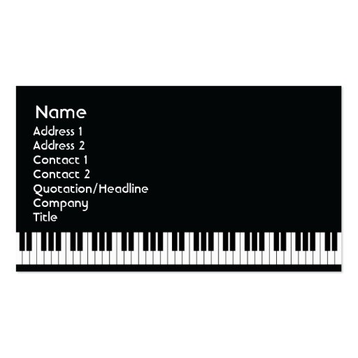 Piano - Business Business Cards