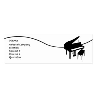 Piano Business Card Template