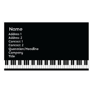 Piano - Business Pack Of Standard Business Cards