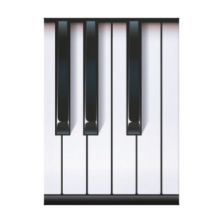 Piano Stretched Canvas Print