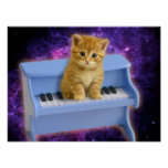 Piano cat poster