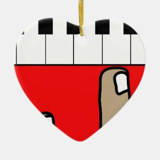 Piano Ceramic Heart Decoration