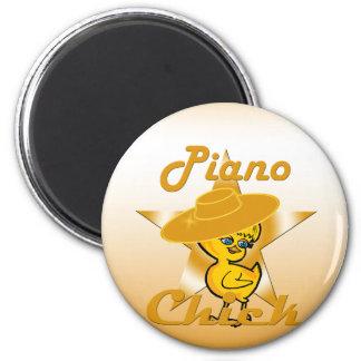 Piano Chick #10 6 Cm Round Magnet