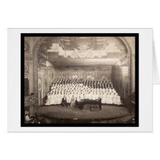 Piano Choir Milwaukee Photo 1906 Greeting Card