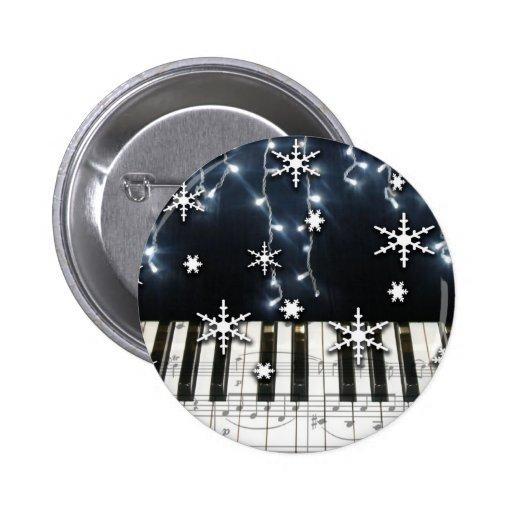 Piano Christmas Snowflake Keyboard Button