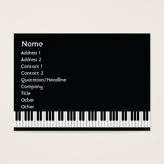 Piano - Chubby Business Card