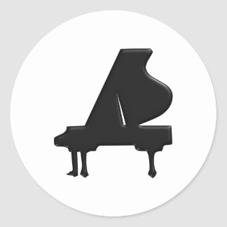 Piano Classic Round Sticker