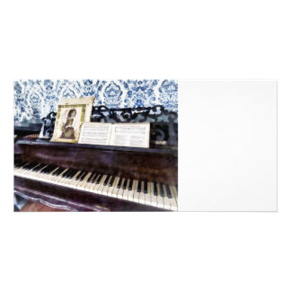 Piano Closeup Customized Photo Card