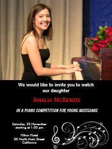 Music Competition Invitations & Announcements | Zazzle UK