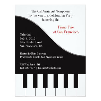 Piano Concert Invitation