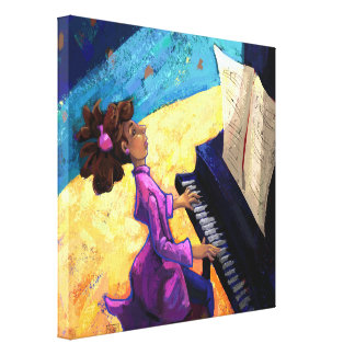 Piano Concert Stretched Canvas Print