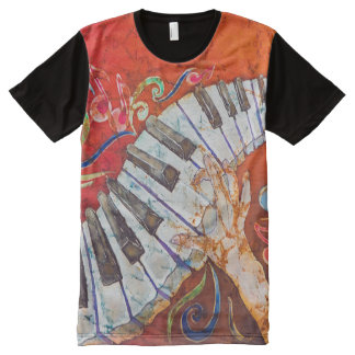 Piano Crazy Fingers Men's All-Over T-Shirt All-Over Print T-Shirt