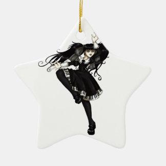 Piano Dance Ceramic Star Decoration