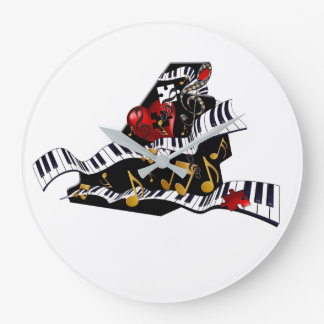 Piano Design Music Decor Wall Clock Juleez