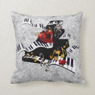 Piano Design Pillow Music Decor by Juleez