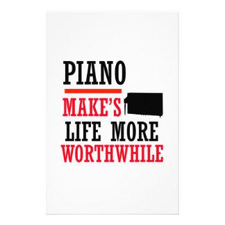 piano design stationery design