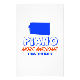 piano design personalized stationery