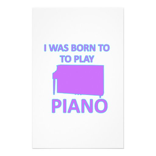 Piano Designs Personalized Stationery