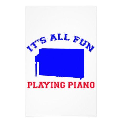 Piano Designs Stationery Design
