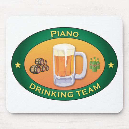 Piano Drinking Team Mouse Pad