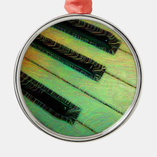Piano  Electric Green Christmas Tree Ornaments