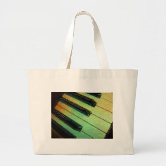 Piano  Electric Green Large Tote Bag
