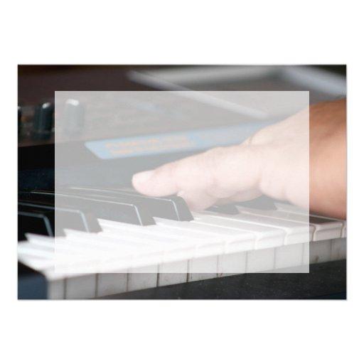 piano electric left hand playing keys music design custom invitations
