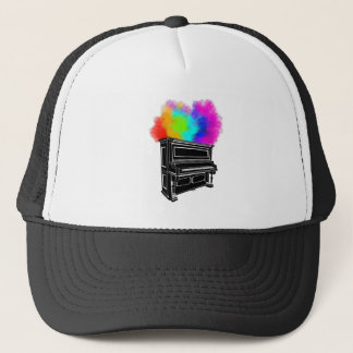 Piano Explosion Of Color Trucker Hat